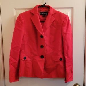 Evan Picone 4 Petite Red Blazer NWOT